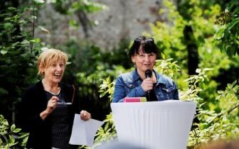 Yvonne Tenner-Paustian (Suchthilfe- und Psychiatriekoordinatorin des Bezirks Pankow) und Beate Buhrke-Schrubbe (Abt. Soziale Wohnhilfe des Bezirks Pankow)